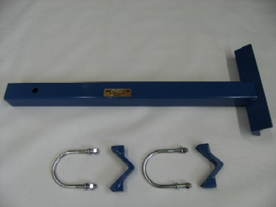 Receiver Hitch Attachment For The Wikco Tire Changers, hitch arm is now 48 inches long and allows you to use the tire changer with tailgate either up or down