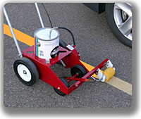Rollmaster paintstripers for Parking lot painting equipment