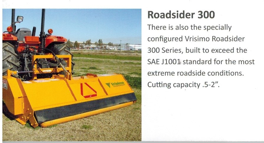 Vrisimo Roadsider Series PTO Powered, Tractor Mounted Flail Mower