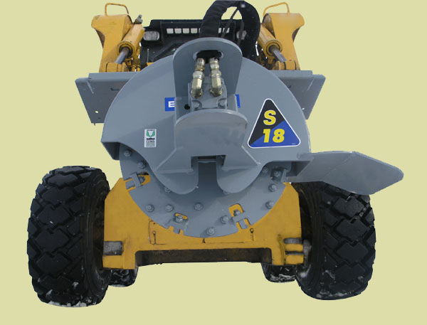 Model S-18 Skid Steer Mounted Stump Grinder