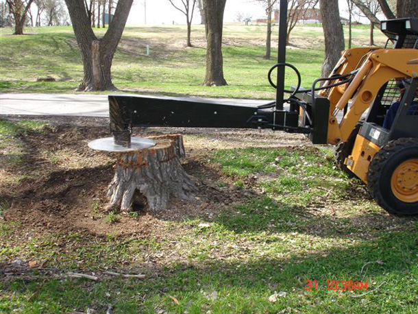 Cuts Off Tall Stumps, Or Trees, And Can Cut Off At Ground Level To Leave A Clean Hole