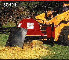 SHSC-50-H Hydraulic Powered Skid Steer Mount Stump Grinder