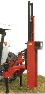 Post Driver Center Mounted On Tractor