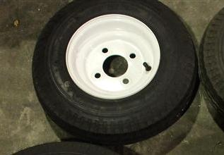 Standard Spare Tire With White Painted Rim - 8 Inch