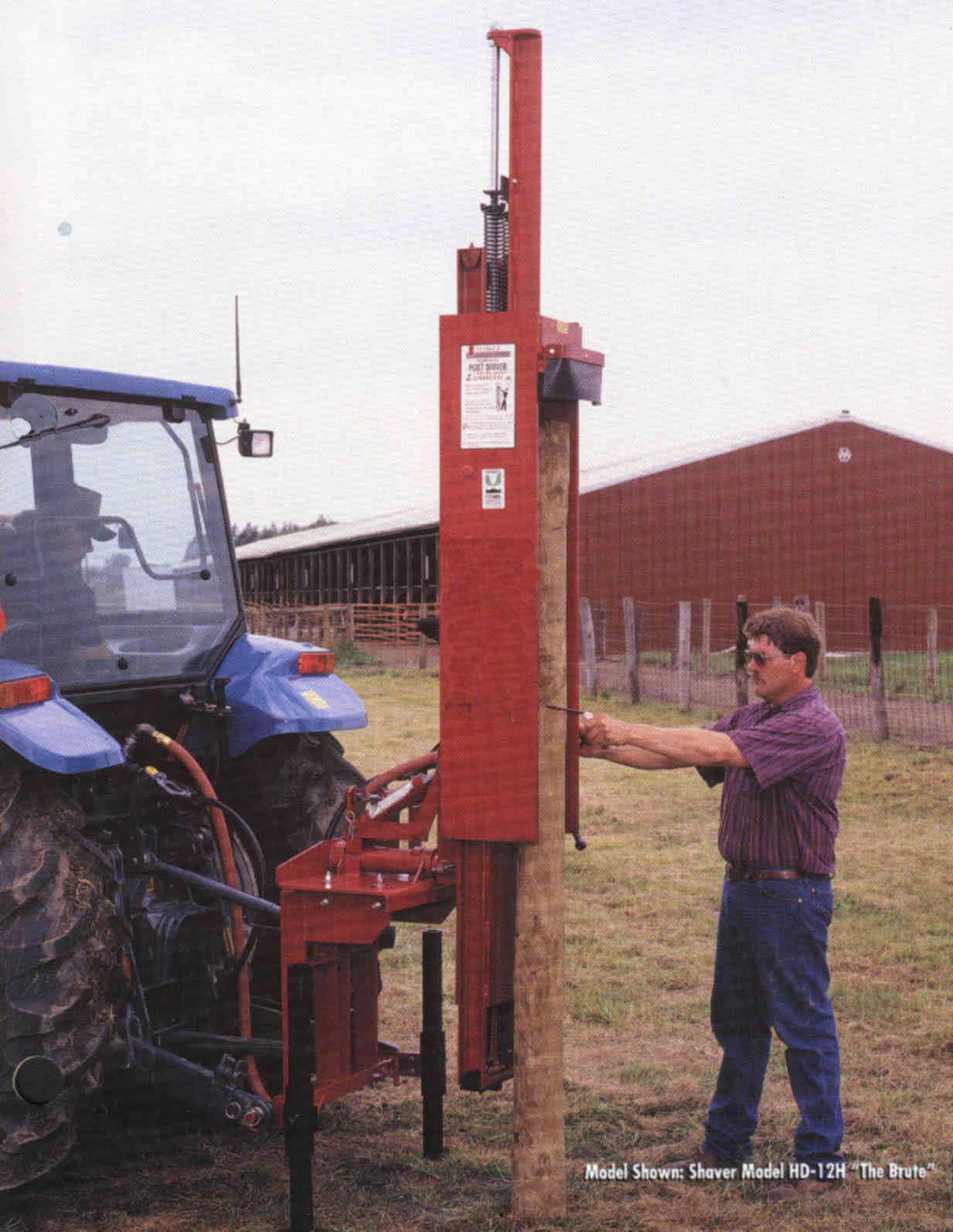 Tractor Mounted Fencepost Driver