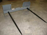 Double Spear Bale Spear Assembly