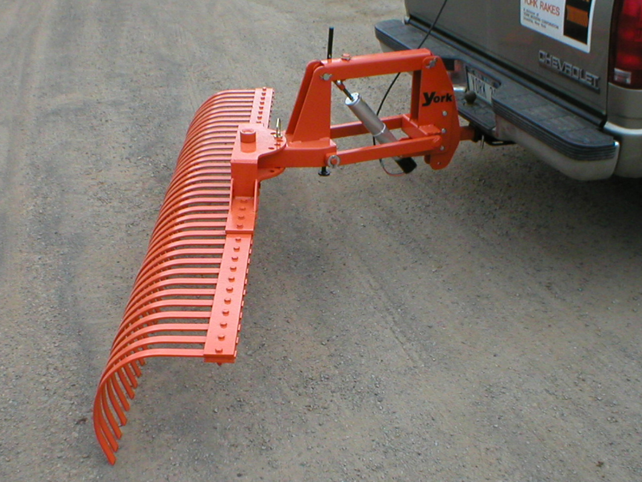 Pickup Or SUV Mounted Landscape Rake With Electric Height adjustment, Angles Either Left Or Right
