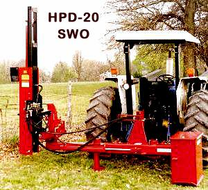 Post Driver Tractor Offset Mounted Model