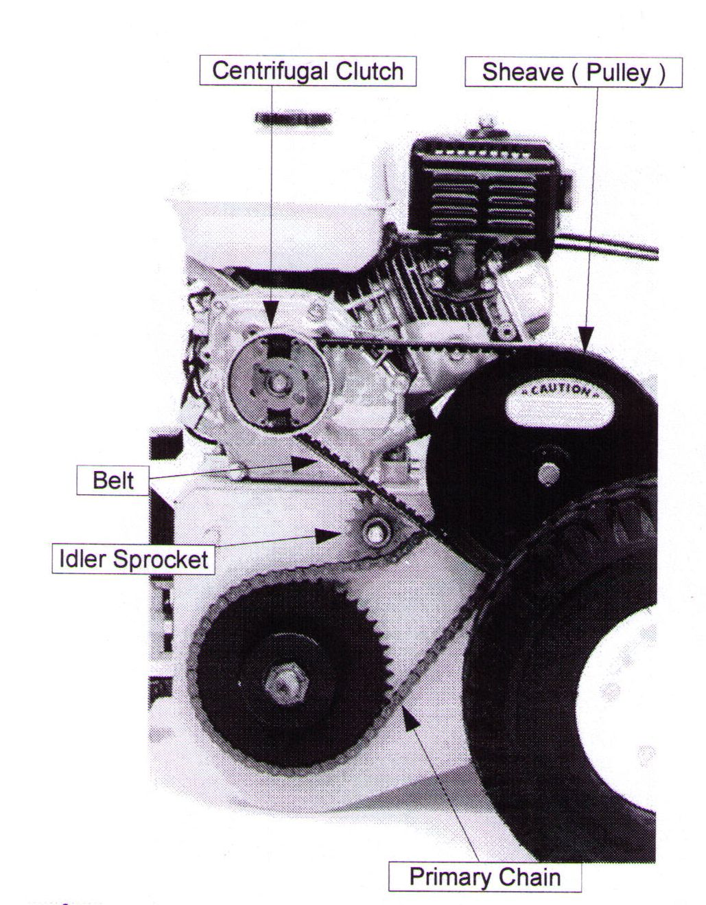 Drive System Of T-4 Walk Behind Trencher