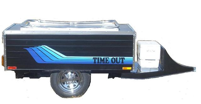 Timeout Deluxe Motorcycle Towable Tent Camper With 12 Inch Wheels
