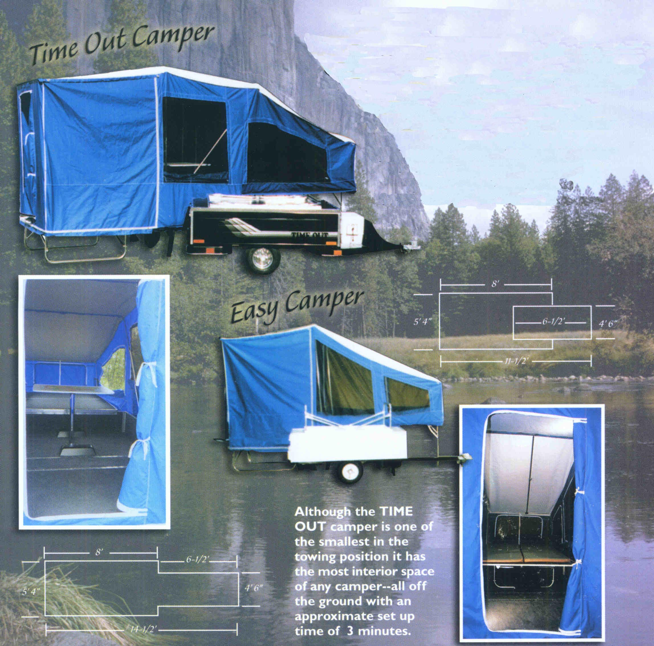 The Timeout And Easy Camper Motorcycle Pullable Camping Trailers