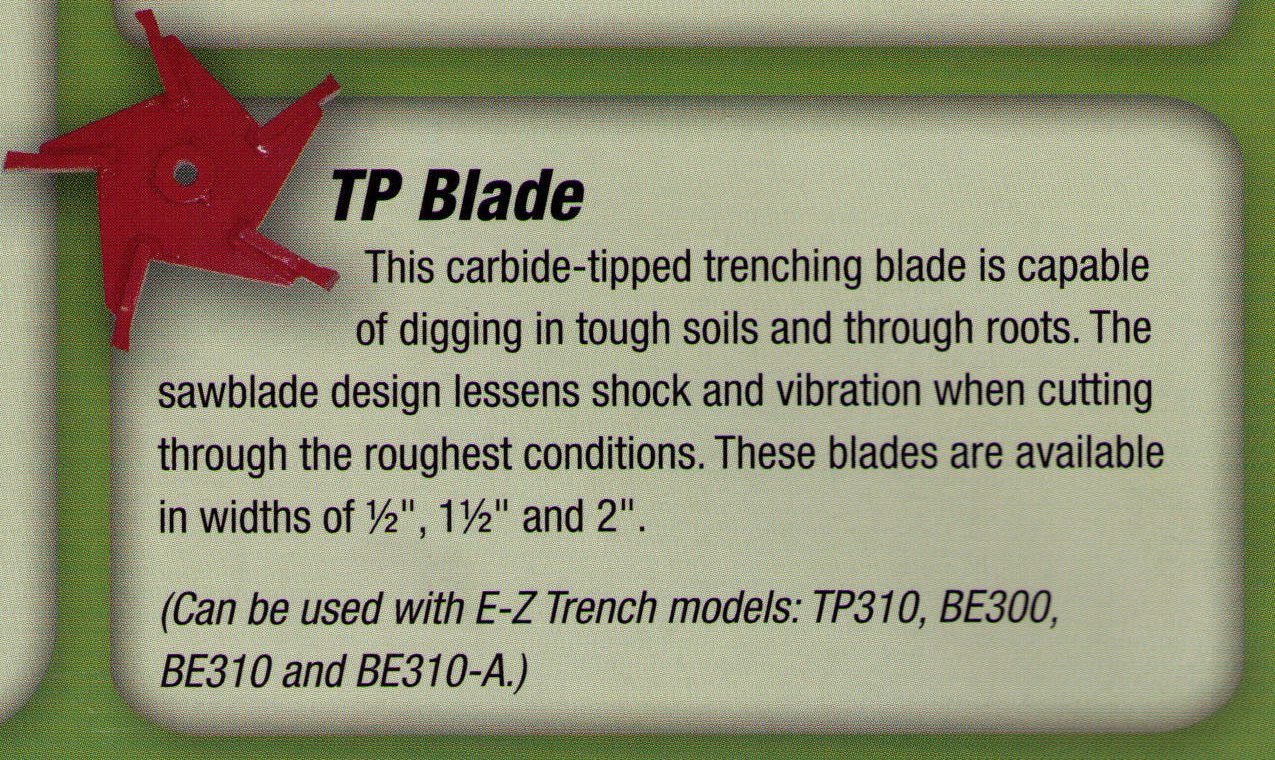 TP Blade, Carbide Tipped Trenching And Saw Blade For Trenching And Cutting Through Roots