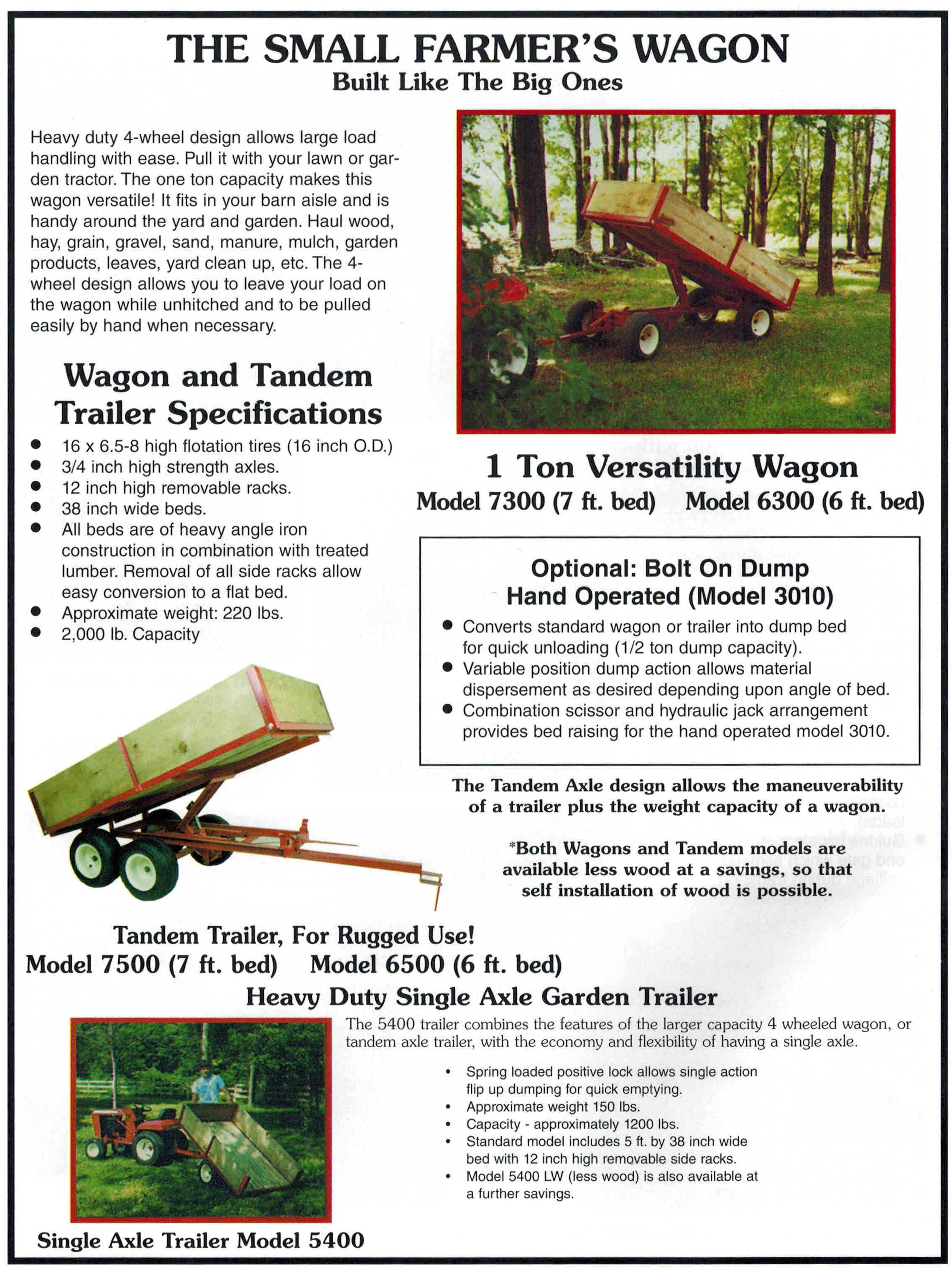 Wagons And Tandem Axle Trailers