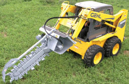 Skid Steer Mounted Hydraulic Chain Trencher