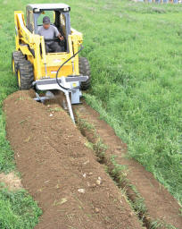 Model BMTN548 Trencher In Use