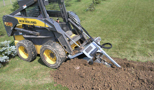 Model WLTN548 Trencher In Use