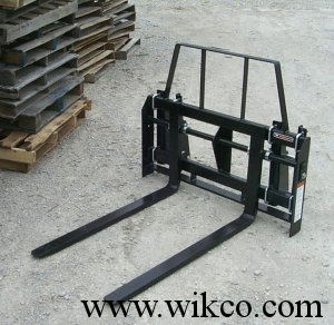 Carriage Style Pallet Forks For Mounting On Loaders On Compact Tractors  - Optional Mounting Brackets Required