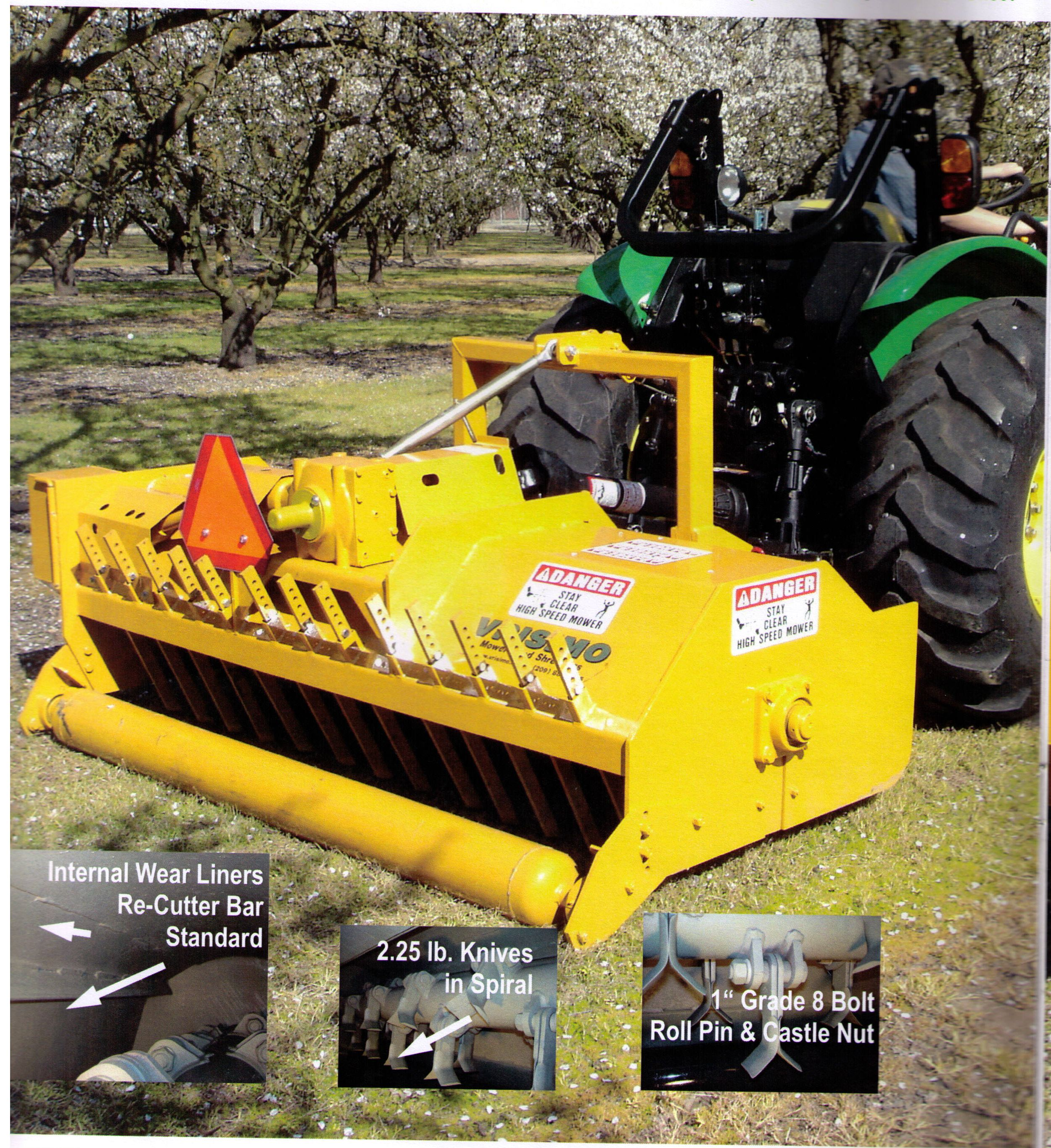 500 Series Brush Shredder, Category 2 Three Point Hitch Mount, Mounts Centered Or Offset