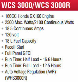 WCS Contractor Series Generator Specifications