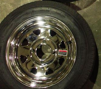Optional Chrome Wheel Option For Cargo Trailers