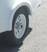 Spare Tire, 12 Inch Rim, White Painted