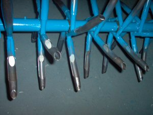 Tines Are 3/4 Inch Diameter 14 Gauge Thick, Closed Spoon Style