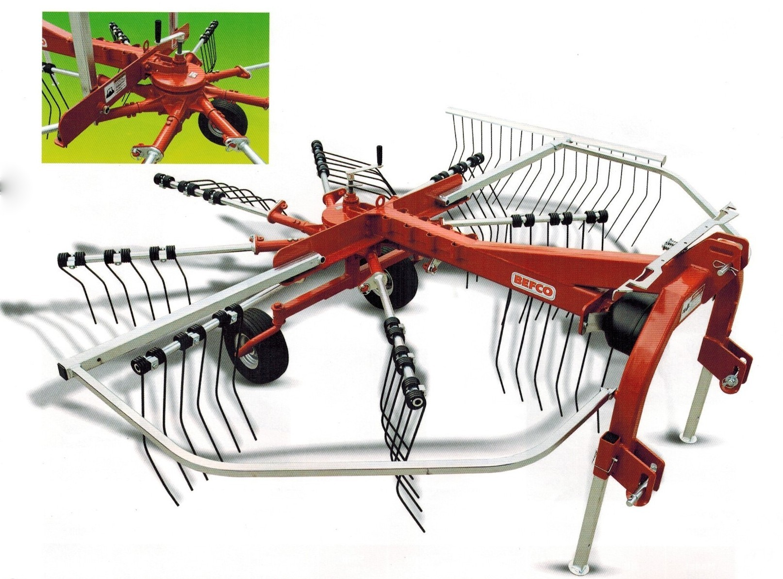 Model DRO-308 Windrower Rake, Three Point Mount, PTO Powered, 10 Ft. Width