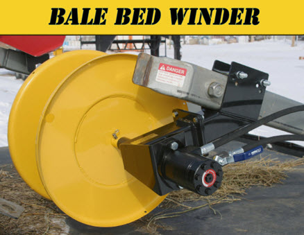 Hydraulic Wire Winder For Mounting On Arms Of Bale Beds