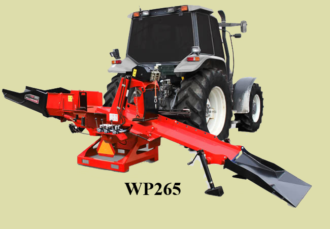 WP235/265 Three Point Hitch Mount Wallenstein Firewood Processors