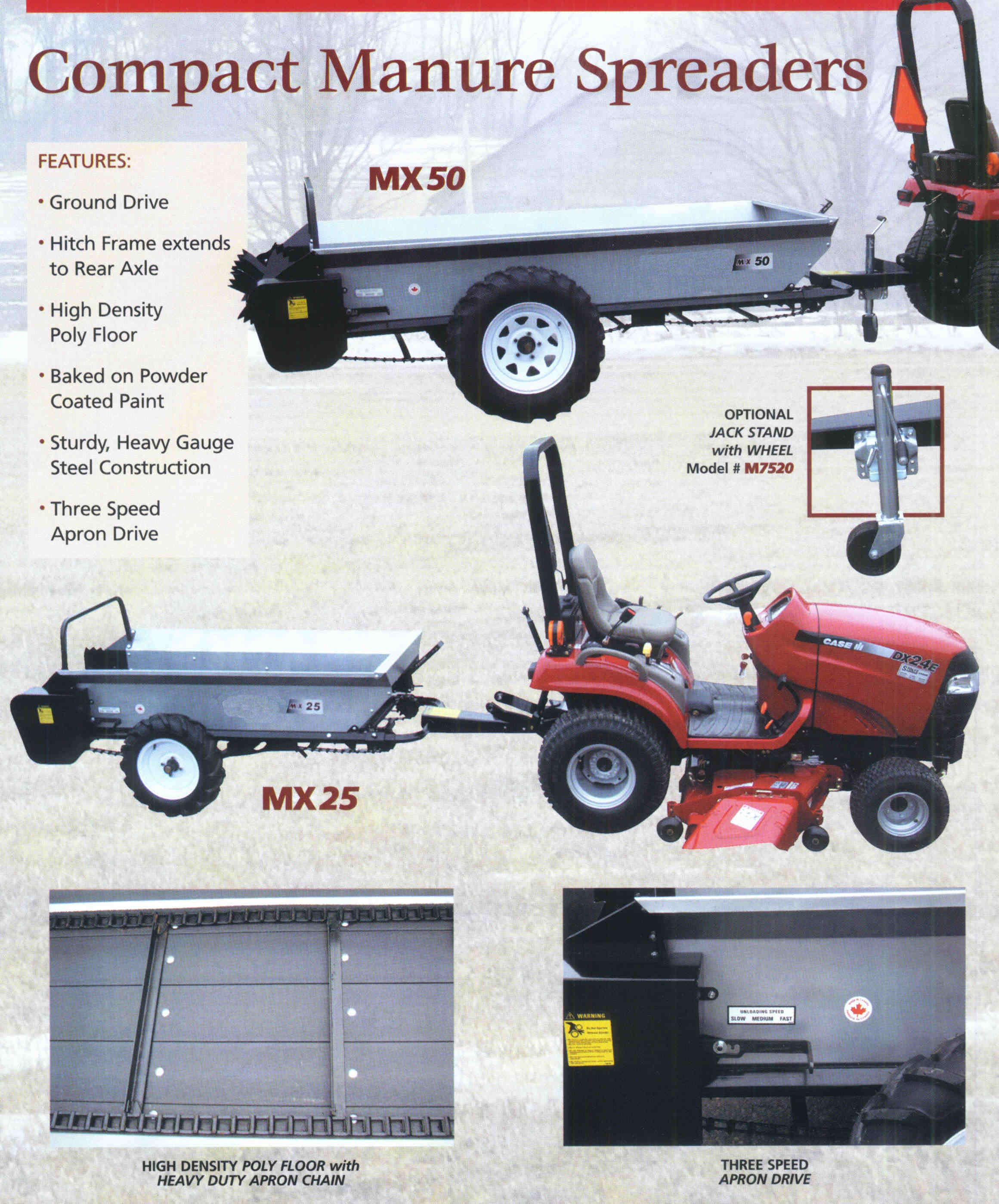 MX Series Compact Manure Spreaders