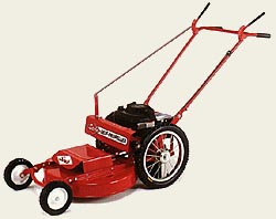 Model WX24SP Self-Propelled High Wheel Mower With Fixed Front Wheels And 24 Inch Side Discharge Mowing Deck