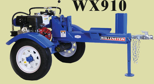 Model WX910 Horizontal Splitter With 4.5 Inch Cylinder, 24 Inch Long Opening, 25 Ton Capacity, Available With Or Without Lights